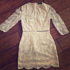 Ivory, Lace embellished Dress